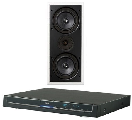 Jamo Intros IW 827 In Wall Speaker To The World DMR 70 DVD Receiver US