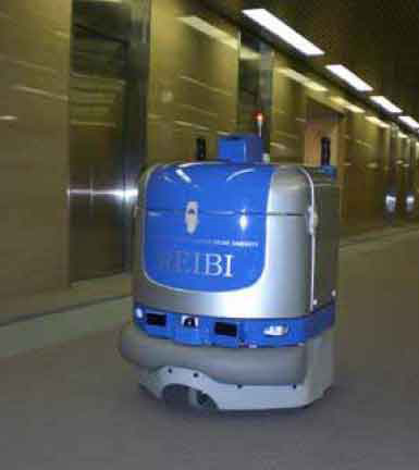 Floor Cleaning Robot In Japanese Office Building Can Ride The Elevator,  Leave Early