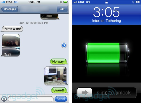 mms and tethering functional on some at t iphone 3gs running 3 0. Black Bedroom Furniture Sets. Home Design Ideas