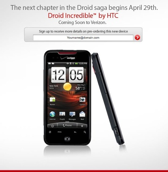 htc droid incredible shows up on official verizon preview page rh engadget com HTC Droid Incredible HTC Incredible Accessories