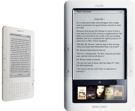 Nook E Reader Vs Kindle: Nook Outsells Kindle In March?
