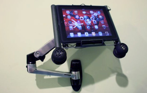 iPad wall mounts take a turn for the crazier (video)