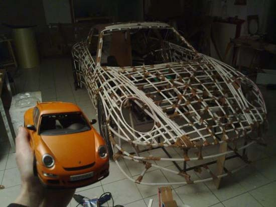 Pedal Powered Porsche Made Out Of Balsa Wood Doesn T Fail To Impress