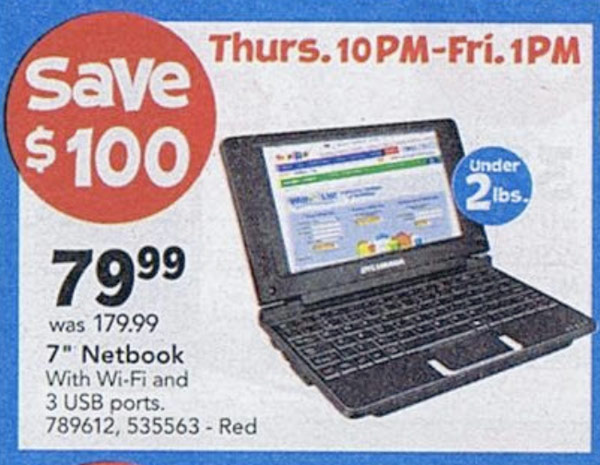 Toys R Us Black Friday Doorbuster Includes 80 Netbook 140 Sylvania Tablet