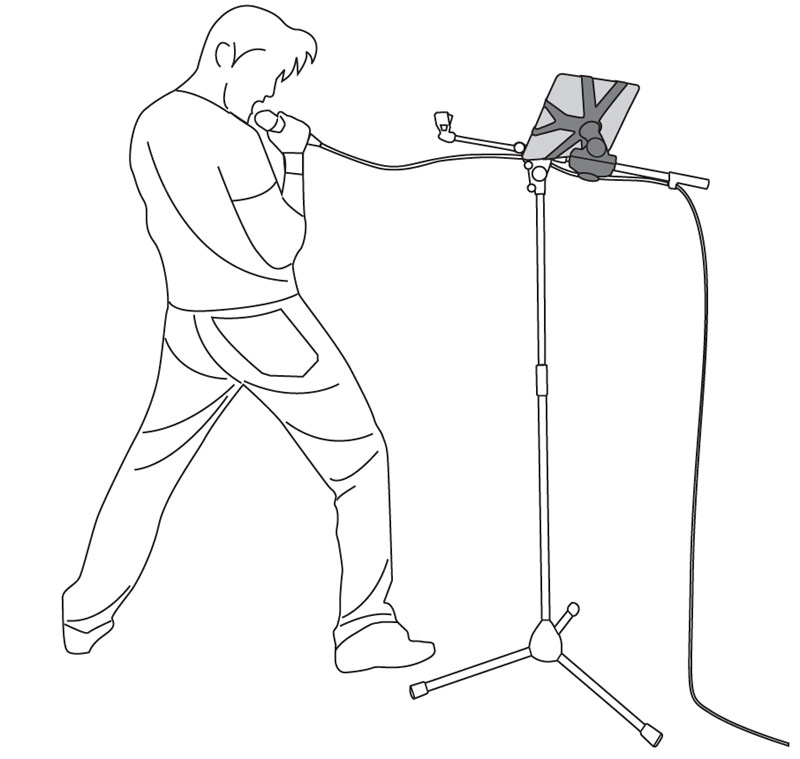 Microphone With Stand Drawing 111
