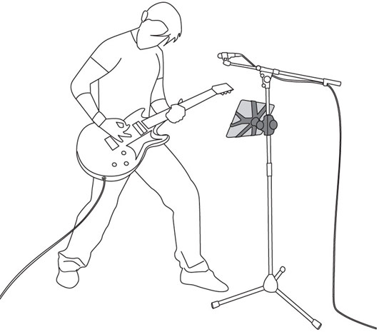 Microphone With Stand Drawing your iPad on a mic stand