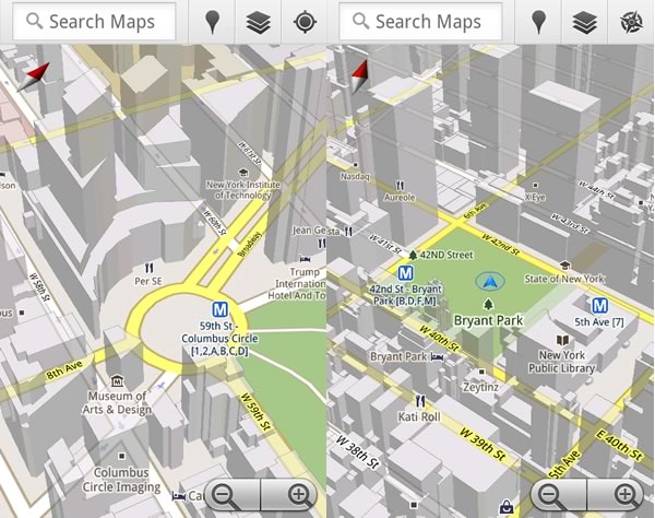 Ny State Map Google.Google Maps 5 0 Hits Android Includes New 3d Map View And Offline