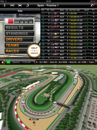 Free and paid apps for Formula 1 racing fans adding features