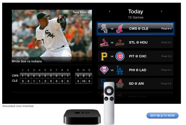 Apple TV software update adds NBA League Pass, MLB tv and Netflix