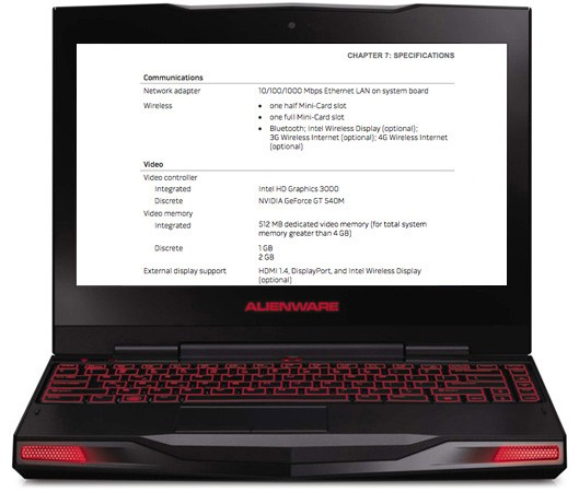 Manual for Alienware M11x with Sandy Bridge confirms NVIDIA