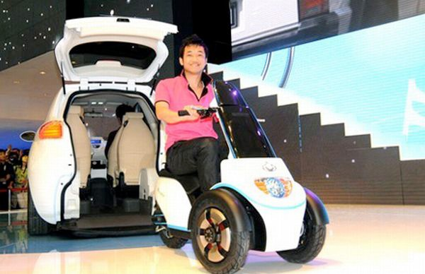 Who Owns Volvo >> Geely McCar comes with an electric scooter for people who ...