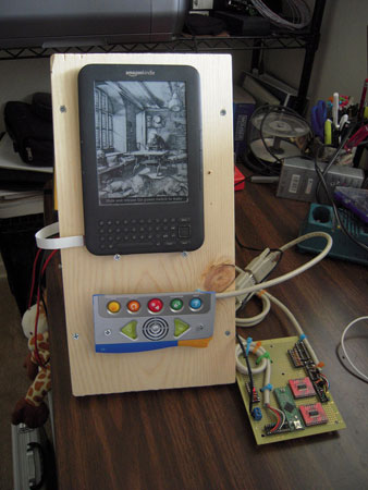 Engineer hacks a Kindle, creates easy to use prototype for