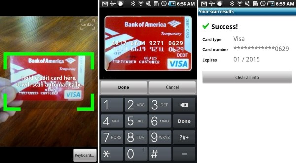Credit card scanning app for iphone