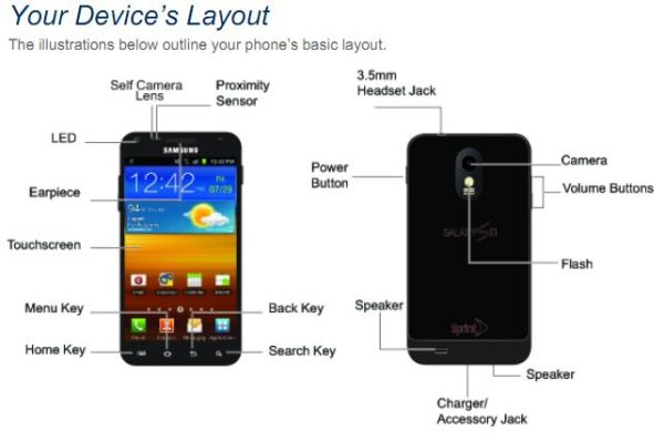 samsung epic 4g touch user manual leaks offering 150 pages of rh engadget com Sprint 4G Schedule Nexus 4G Sprint