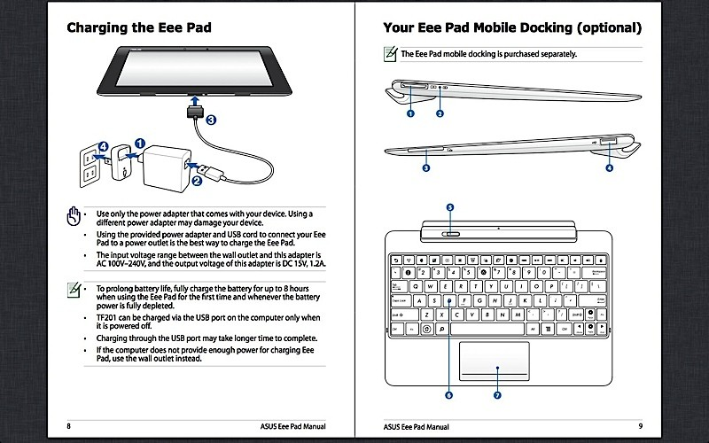 Instruction Manual For Asus Transformer T100