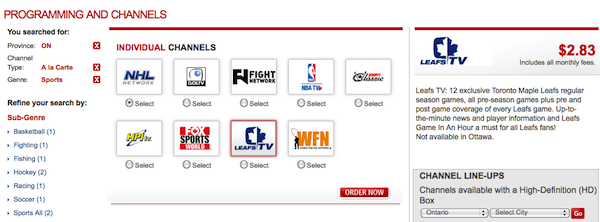 what channel is espn2 on rogers cable