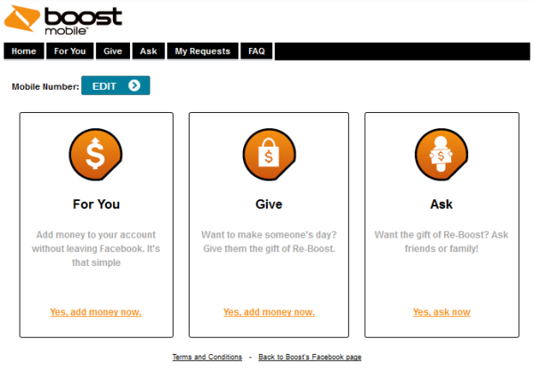 My Boost Mobile app The easiest way to pay your bill is from the My Boost mobile app. From the home screen, click on the Payment screen icon (second from the left), then hit the Make a Payment button.