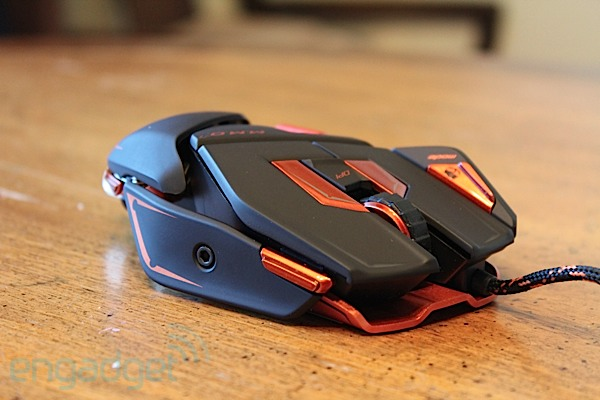 Mad Catz Cyborg M M O  7 gaming mouse hands-on