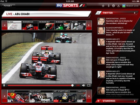 sky sports for ipad 2 0 launches with live tv streaming f1 race control companion. Black Bedroom Furniture Sets. Home Design Ideas