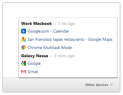 Chrome live tab syncing