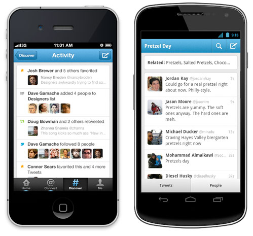Twitter app update brings improved discover, search and