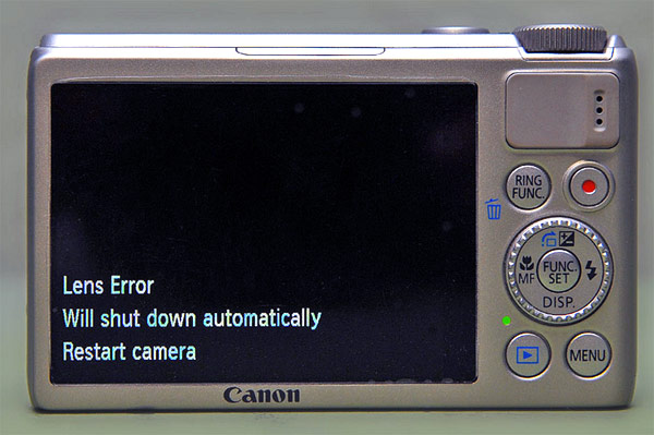 Canon confirms PowerShot S100 lens error, offers free repair for