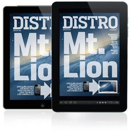 Distro Issue 51 arrives with an indepth look at Apple's Mountain Lion