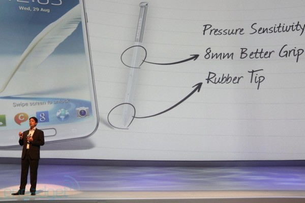Samsung Galaxy Note II getting redesigned S Pen with rubber tip, improved grip, same 1,024 levels of pressure sensitivity