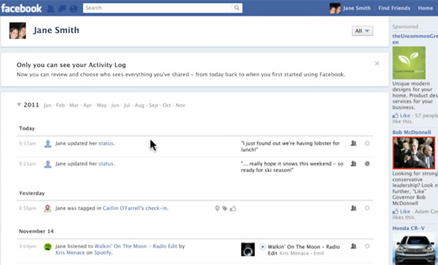 History Brings Queries Keeps Search Log Facebook Private Activity To