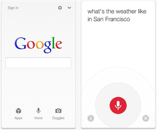 Google Search App For Ios Updated With New Voice Search Functionality Iphone 5 Compatibility Video Engadget