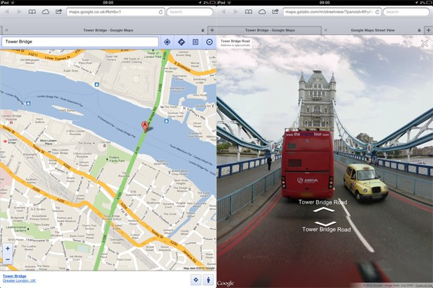 Street View comes to Google Maps web app on iOS, just like ... on google maps street view, apple maps street view, online maps street view, nokia maps street view, windows live maps street view, bing maps street view, chrome maps street view,