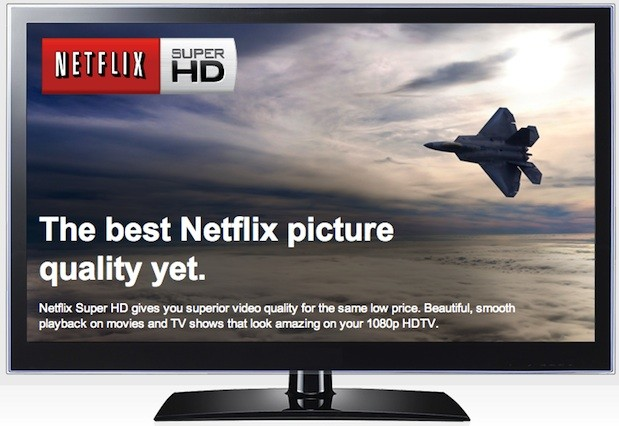 Netflix's highest quality 'Super HD' 1080p video streams are available everywhere
