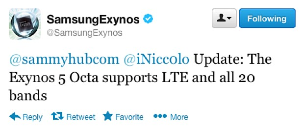 Exynos 5 Octa Does Support LTE, But Has Problems of Stock