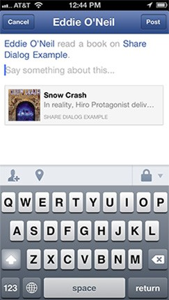 Facebook's native Share Dialog for iOS exits beta, now ready for