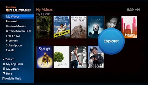 AT&T's U-verse gets new On Demand hub, promises simpler discovery for movies and TV shows