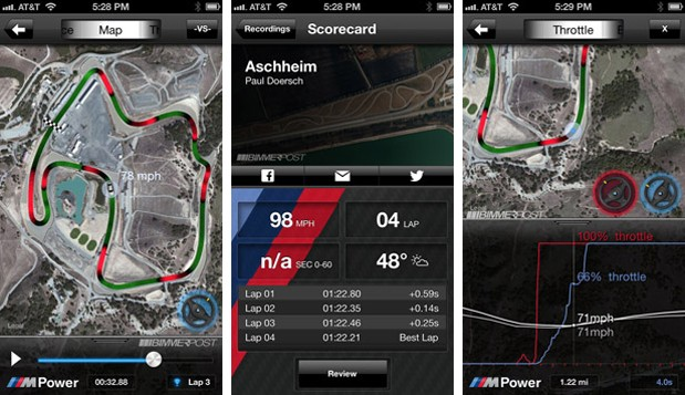 BMW M Laptimer goes live in iOS App Store, tracks your run