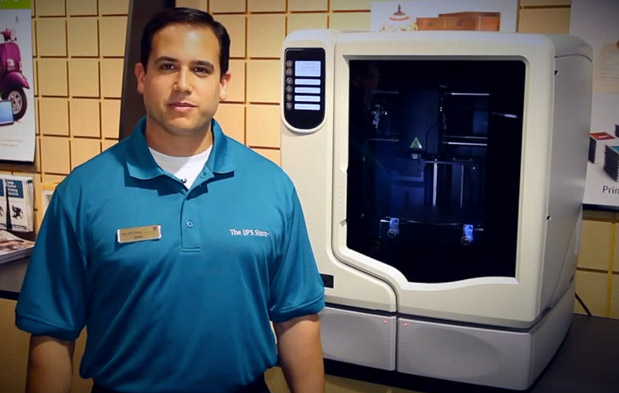 DNP UPS to offer 3D printing in select San Diego stores video