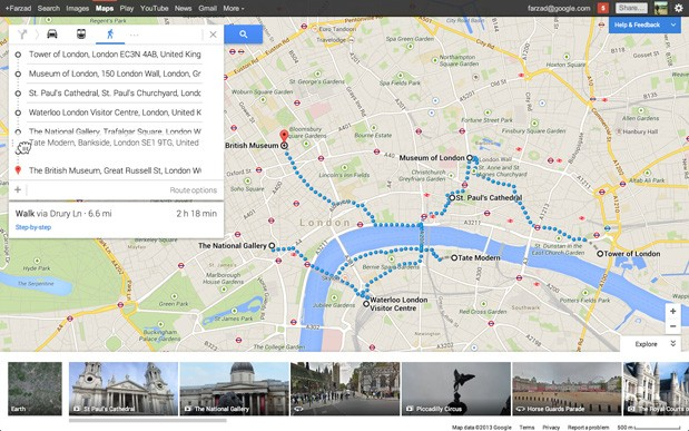 google maps preview now handles multi point routes upcoming events
