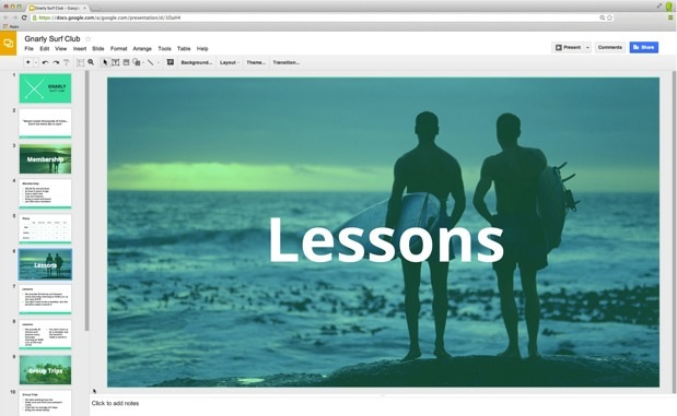 Google Drive updates Slides with custom themes, widescreen ...