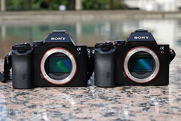 Sony's Alpha 7 and Alpha 7R showing off their full-frame sensors