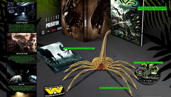 Aliens vs. Predator: hunter edition to come home with a facehugger.