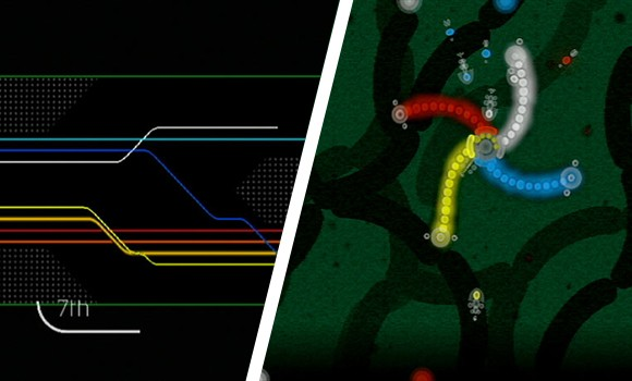 WiiWare First Look: Art Style series Light Trax, Rotozoa