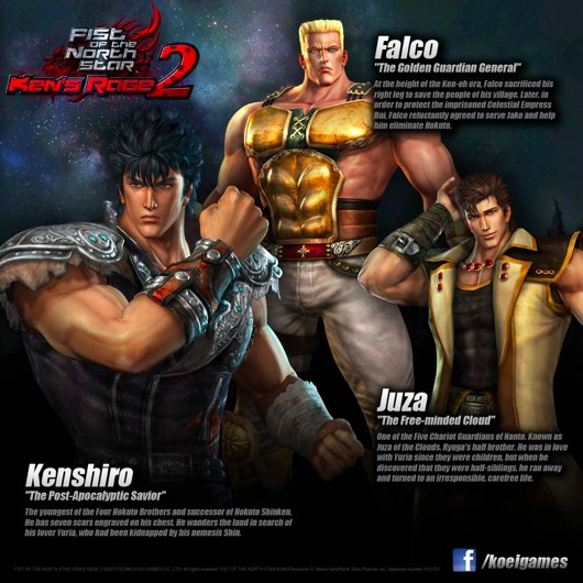 Koei announces release dates for Fist of the North Star: Ken's Rage 2