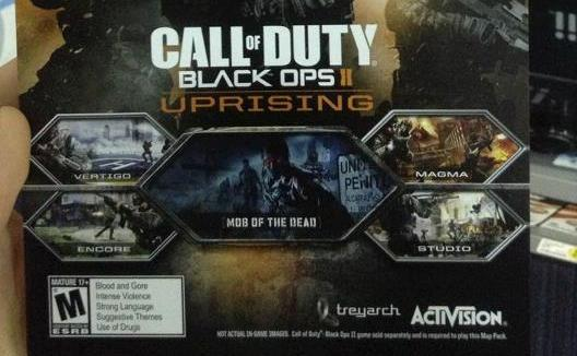 black ops 2 uprising dlc adds new maps zombie adventure on