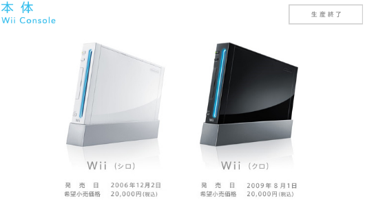 Wii discontinued in Japan