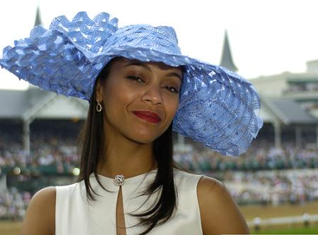 Actress Zoe Saldana at the 133rd Kentucky Derby