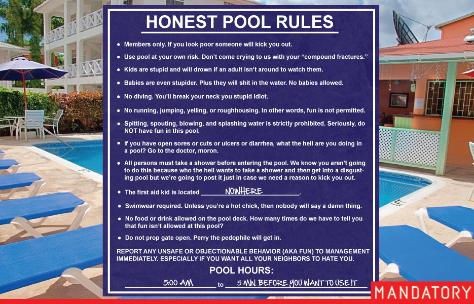 Funny picture thread ii page 2372 texas gun talk - Swimming pool regulations in texas ...