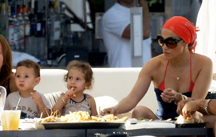 Jennifer Lopez had her twins  Max and Emme  when she was 38  Credit    Jennifer Lopez Twins Names