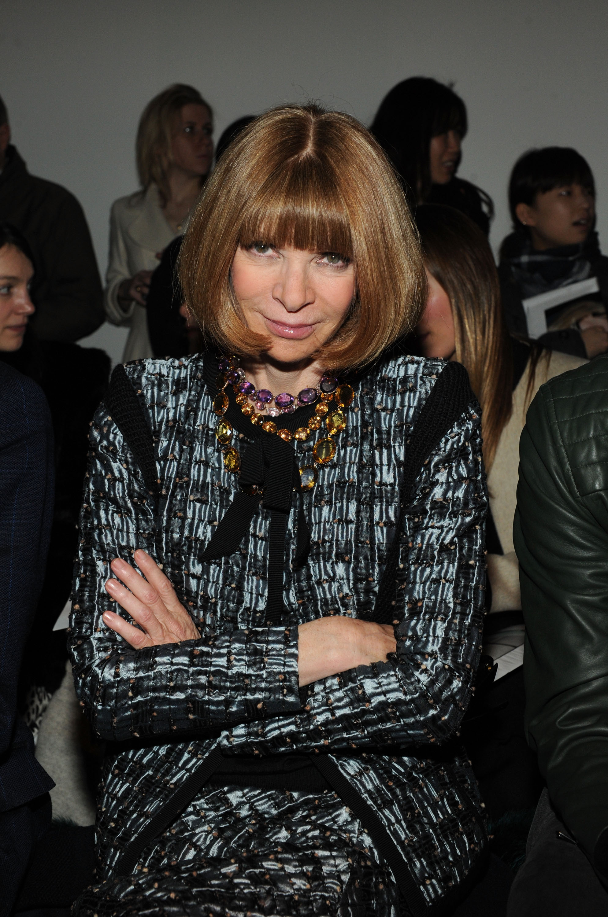 Anna Wintour Banned Ariana Grande From Wearing Ponytail: Anna Wintour's Fashion Week Wardrobe (and Her Favorite Fur