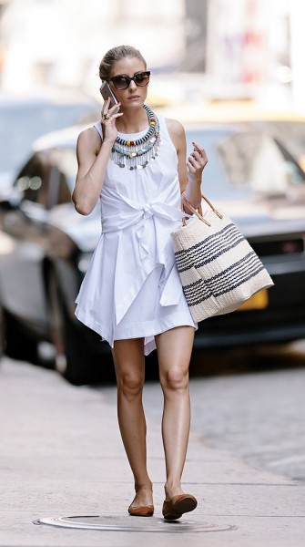 Get The Look And Feel Of Natural Wood For Your Front Door: Get The Look: Olivia Palermo's NYC Summer Style